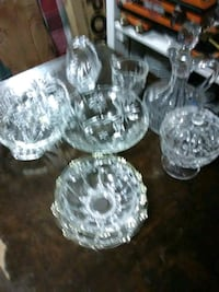 Beautiful crystal dishes
