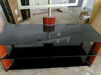 Tempered glass and wood Mounting TV stand  Houston, 77080