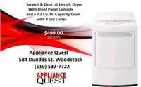 LG scratch and dent Electric Dryer  Woodstock, N4S 1C8