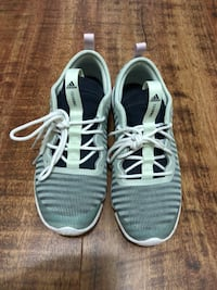 pair of gray-and-white running shoes Edmonton, T5H 3B9