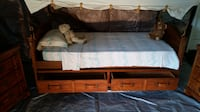 Very UNIQUE!!! Child's wagon train canopy bed room set