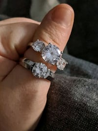 CZ sterling silver rings Lawrence, 15055