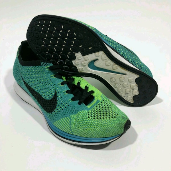 20fe79fad199 Used Mens Nike Flyknit Racer Lucid Green Size 9.5 for sale in Brooklyn -  letgo