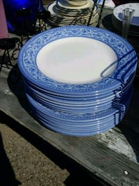 blue and white ceramic dinnerware set Silver Spring, 20906