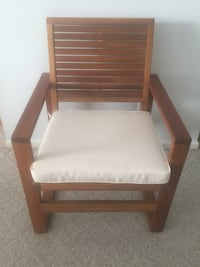 2 for $85 Acacia Wood Chairs Cherry Hill