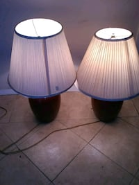 two burgundy table lamps Los Angeles, 90059