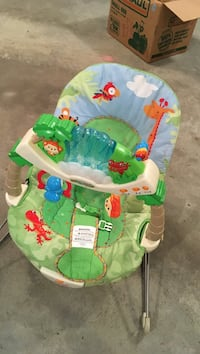 baby's green and blue animal bouncer Williamsburg, 23188