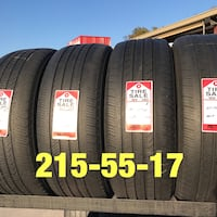 4 used tires 215/55/17 Michelin (B)