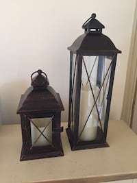 Two lanterns with electric/battery operated  candle Washington, 20016