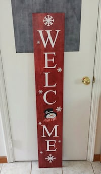 Winter Welcome Sign Cuyahoga Falls, 44223