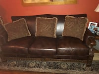 Brown leather 3-seat sofa, love seat, coffee table and end table Tucson, 85710