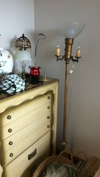 Stand free lamp with marble base that lights up also Leamington
