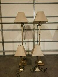 Lamp set of 4, includes 2 table top & 2 full sized
