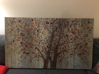 two painting of brown leaf trees TORONTO