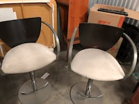two white leather padded chairs Fairfax, 22033