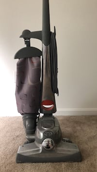 black and gray Kirby vacuum cleaner. No accessories, but it works great!  Stafford, 22556