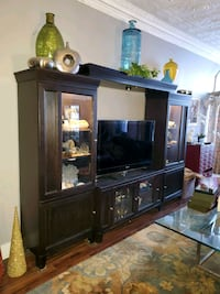 Beautiful entertainment center with side lighted  curios Jessup, 18434
