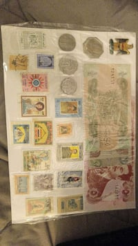 banknote , postage, and coin collection