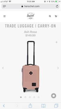 Carry-on luggage!
