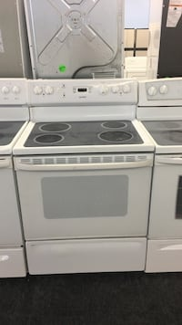 white and black induction range oven Toronto, M3M 2M4