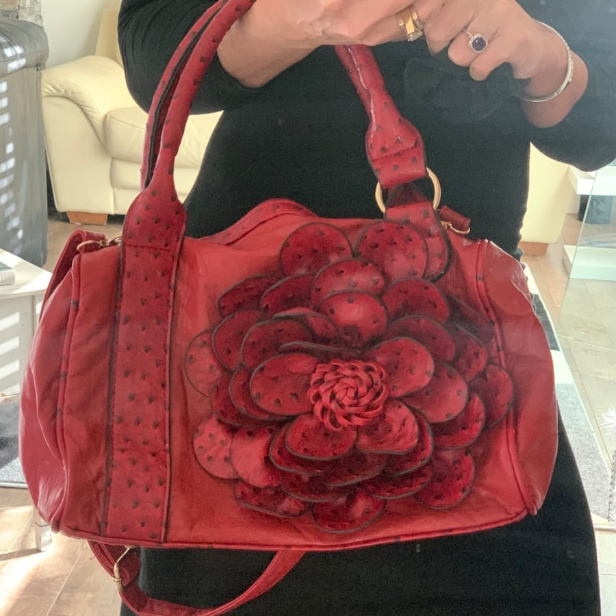 Rich Red Marie Claire Rose Purse