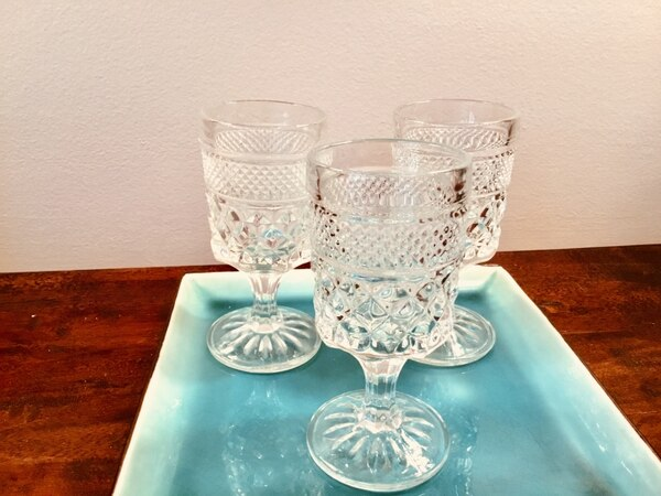 Used Vintage Wexford Small Wine Glassses For Sale In