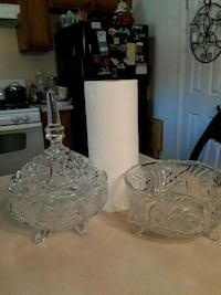 TWO HEAVY PIECES OF CRYSTAL PRICE IS FINAL,,,,,