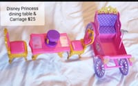 Disney Princess dining set & carriage - $25