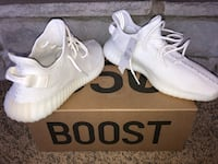 pair of white adidas Yeezy Boost 350 with box Lewisburg, 45338