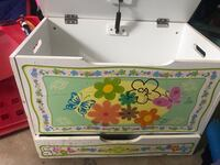 Wooden Toy Chest W/Bottom Drawer Mineral Springs, 28173