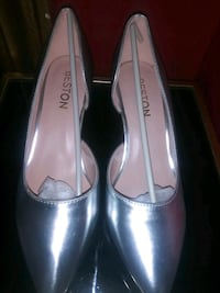 Brand new silver 2 inch heels says size 8(real fit like 7) The Bronx, 10472