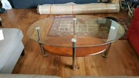 Glass top coffee table + 2 end tables Alexandria, 22304