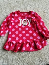 Girls clothes size 12month holiday pajama dress Rockville