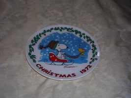 COLLECTIBLE 1972 SNOOPY PLATE