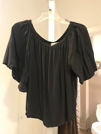 Off-the-shoulder charcoal grey blouse - size small/medium - loose fitting  Washington, 20001