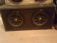 black KICKER subwoofer with enclosure Guelph