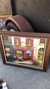 brown wooden framed painting of house Sacramento, 95842