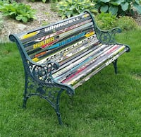 Green metal hockey stick bench Penetanguishene, L9M 1K3