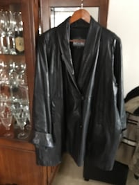 Women's Leather Car Coat 3131 km