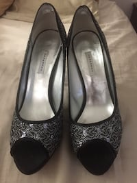 Size 10Silver and black caparros high heels Glendale, 91205
