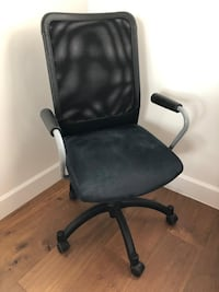 black leather padded rolling chair Miami Beach, 33139