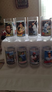 Set Of 8 Of All Time Greatest Team Coke Glasses McDonald's Collectors Pasadena, 21122