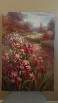 red and green flower painting Ocala, 34472