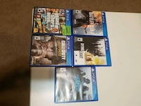 five assorted PS4 game cases Sylvan Lake, T4S 1Z1