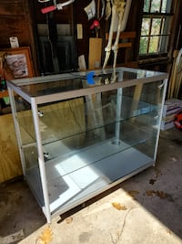 "(2) 48"" Glass Counter Height Display Cases Swampscott"