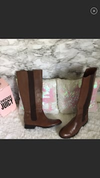 Like New/ Franco Sarto Brown Leather riding boots! Charles Town, 25414