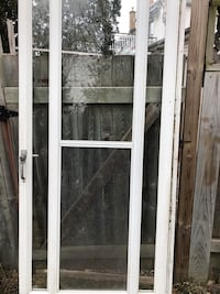 Screen door with lock