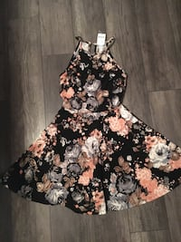 Colourful floral sleeveless dress