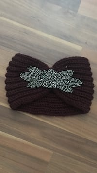 brown and gray floral beaded knitted hair band Langhorne, 19047