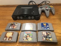 Nintendo 64 w/ 6 games & 4 controllers  Silver Spring, 20904